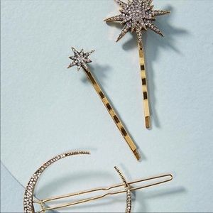 NWOT Anthropologie Crystal Pin Set of 3